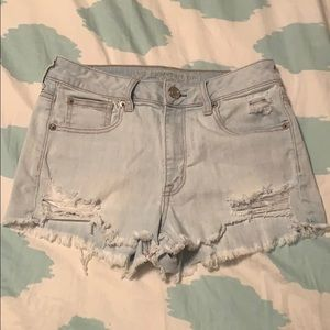 American Eagle White Washed Jean Shorts